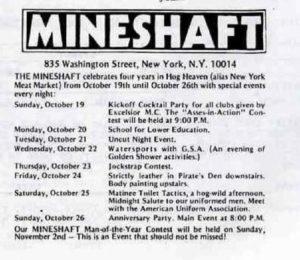 Mineshaft - Programme of the 4th birthday celebration