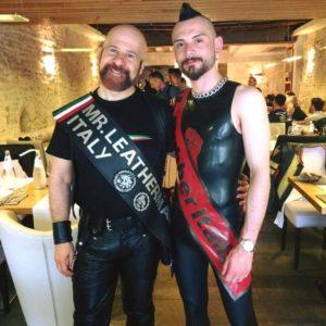 Fabrizio Mr. Leather Italy 2017 e Gennaro Mr. Rubber Italy 2017