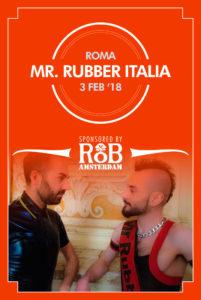 Mister Rubber Italia 2018 Flyer