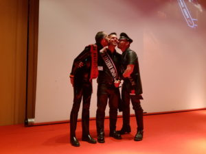 Chris & Neri kiss the new Mister Leather Spain 2017