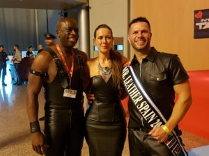 Vanessa with Anthony and Janos Mister Leather Spian 2017