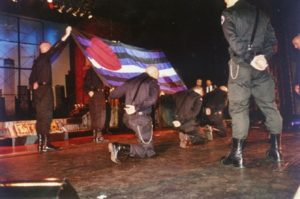 The original Leather Pride Flag displayed during IML 1999