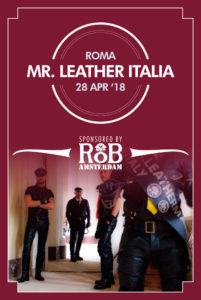 Mister Leather Italia 2018 Flyer