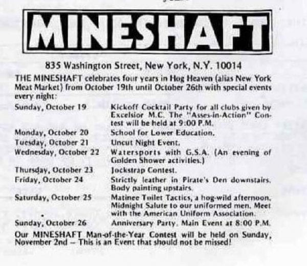 Mineshaft - Programma della 4 festa di compleanno