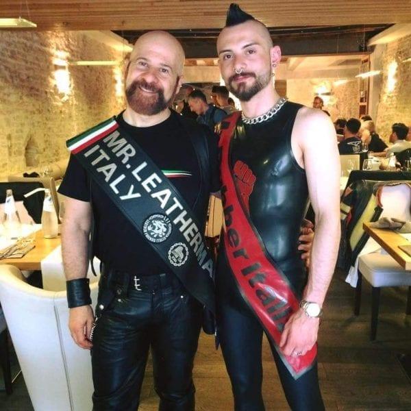 Fabrizio Mr. Leather Italia 2017 e Gennaro Mr. Rubber Italia 2017