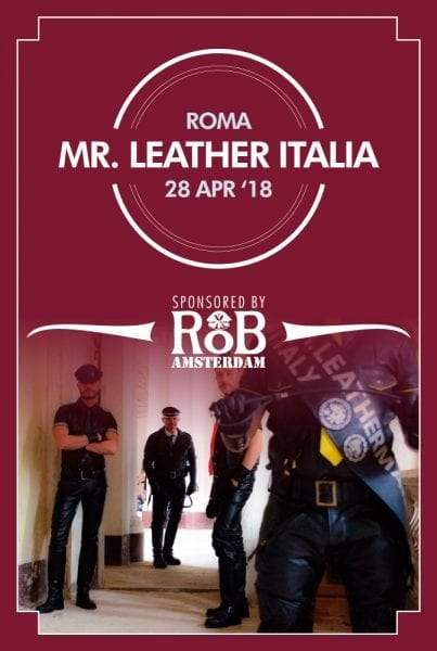 Mister Leather Italy 2018 Flyer